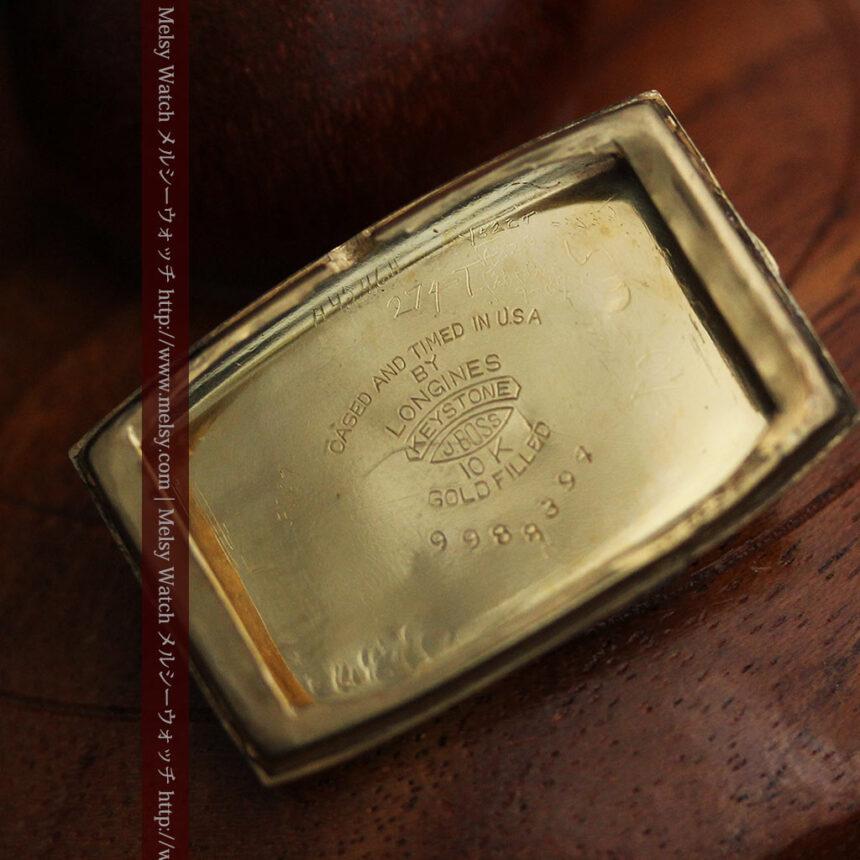 ロンジンのアンティーク腕時計【1939年製】ローズ色-W1465-15