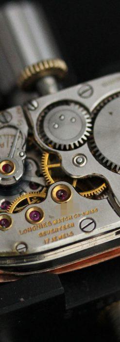 ロンジンのアンティーク腕時計【1939年製】ローズ色-W1465-16