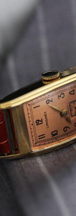 ロンジンのアンティーク腕時計【1939年製】ローズ色-W1465-4
