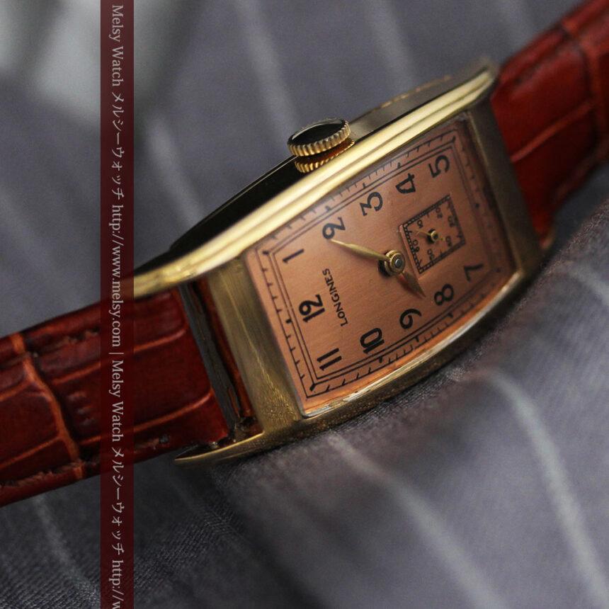 ロンジンのアンティーク腕時計【1939年製】ローズ色-W1465-5