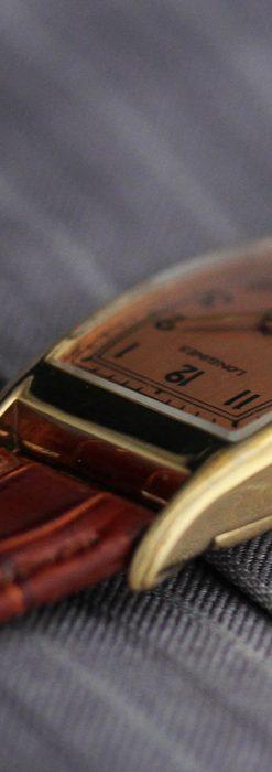 ロンジンのアンティーク腕時計【1939年製】ローズ色-W1465-6