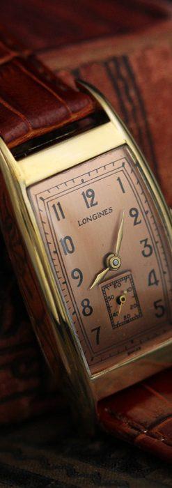 ロンジンのアンティーク腕時計【1939年製】ローズ色-W1465-7