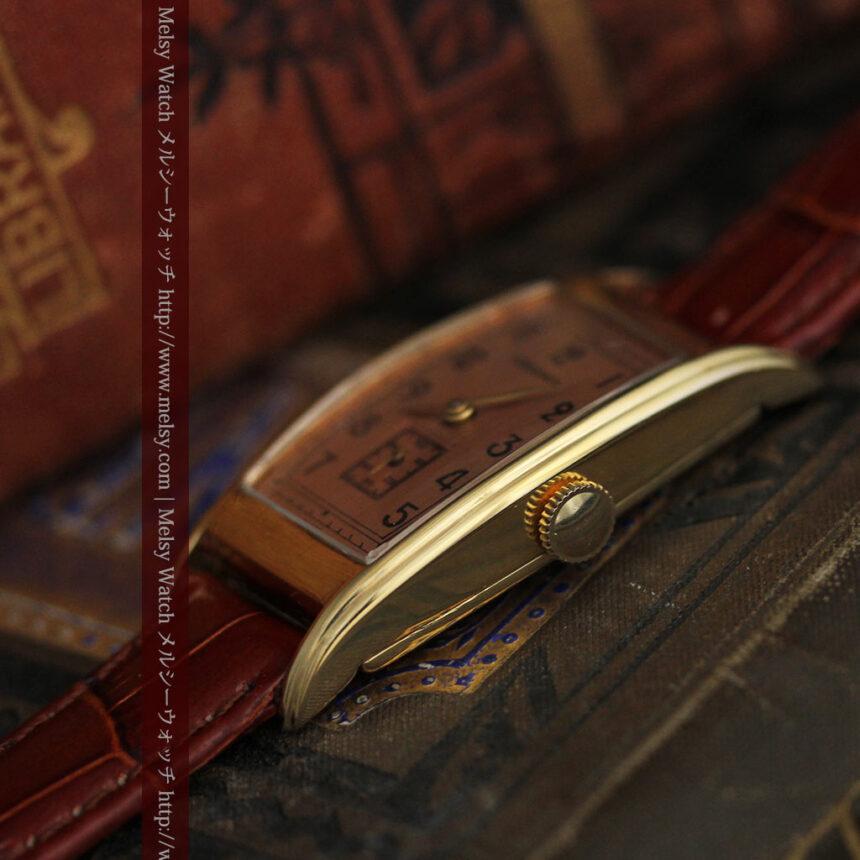 ロンジンのアンティーク腕時計【1939年製】ローズ色-W1465-9