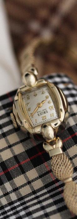 グリュエンの上品なメッシュバンドのアンティーク腕時計 【1950年頃】-W1466-2