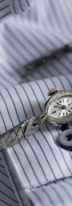 ハミルトンの上品な姿の女性用金無垢腕時計 【1960年頃】-W1469-1