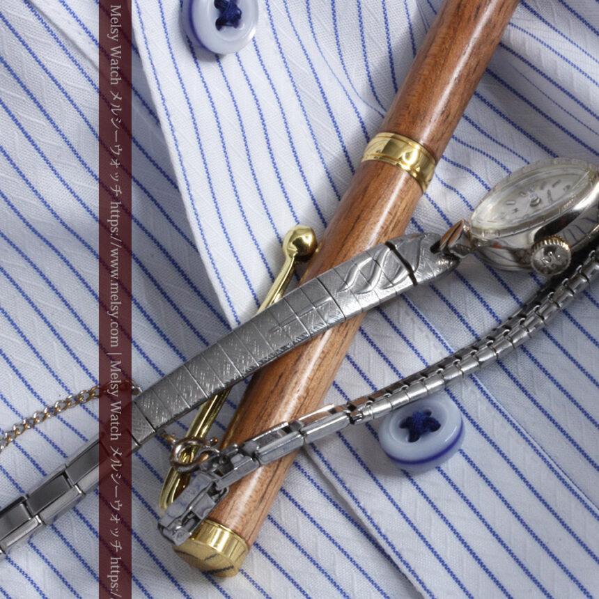 ハミルトンの上品な姿の女性用金無垢腕時計 【1960年頃】-W1469-10