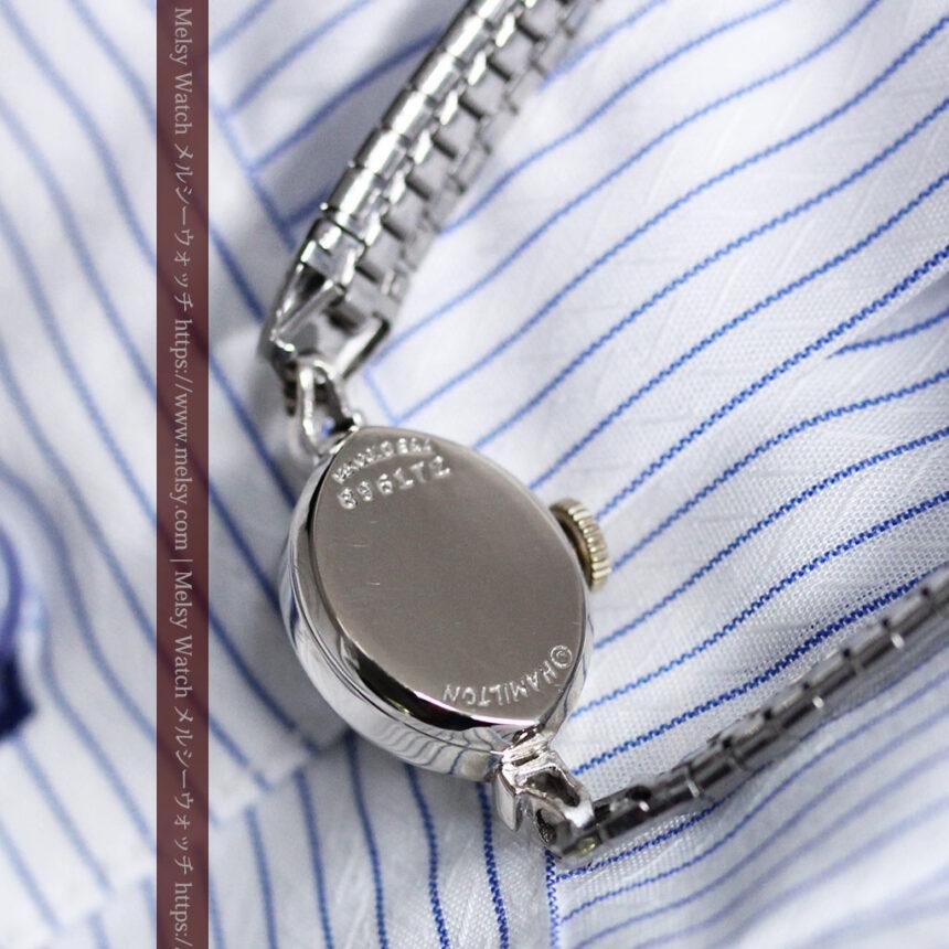 ハミルトンの上品な姿の女性用金無垢腕時計 【1960年頃】-W1469-11