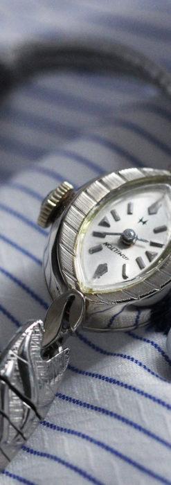 ハミルトンの上品な姿の女性用金無垢腕時計 【1960年頃】-W1469-4