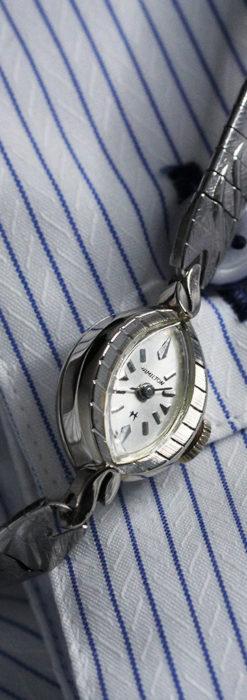ハミルトンの上品な姿の女性用金無垢腕時計 【1960年頃】-W1469-5