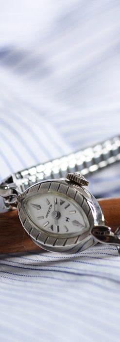 ハミルトンの上品な姿の女性用金無垢腕時計 【1960年頃】-W1469-6