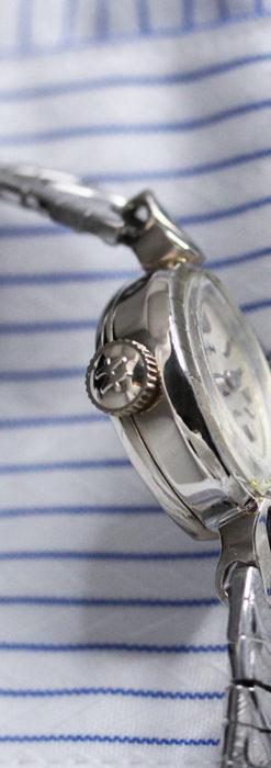 ハミルトンの上品な姿の女性用金無垢腕時計 【1960年頃】-W1469-7