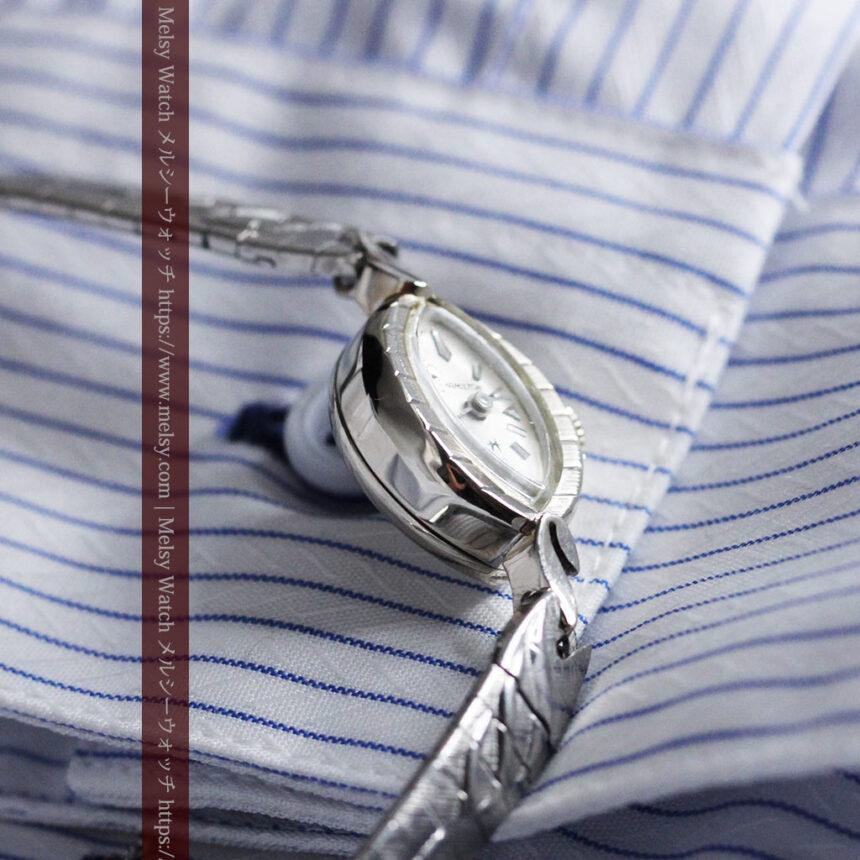 ハミルトンの上品な姿の女性用金無垢腕時計 【1960年頃】-W1469-8