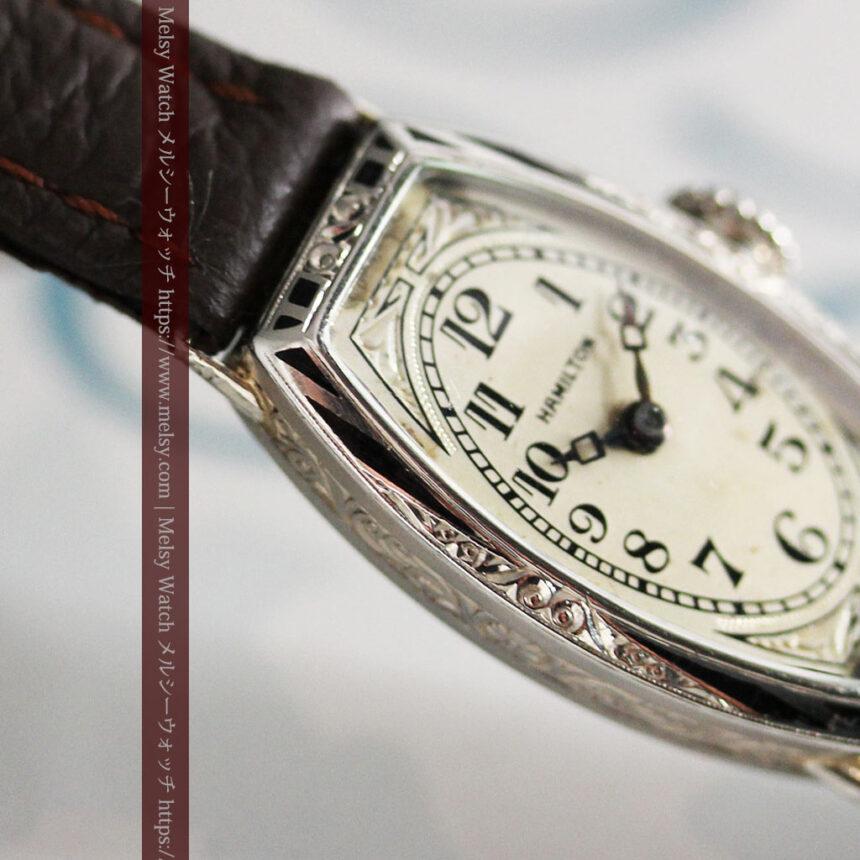 上品さが光る美しいハミルトンの金無垢アンティーク腕時計【1930年頃】箱付き-W1470-12