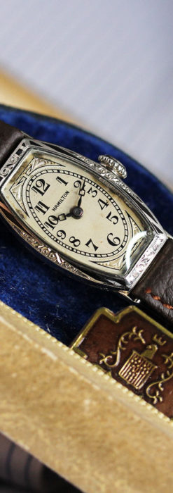 上品さが光る美しいハミルトンの金無垢アンティーク腕時計【1930年頃】箱付き-W1470-13