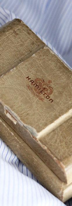 上品さが光る美しいハミルトンの金無垢アンティーク腕時計【1930年頃】箱付き-W1470-16