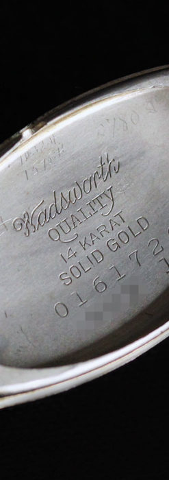 上品さが光る美しいハミルトンの金無垢アンティーク腕時計【1930年頃】箱付き-W1470-18