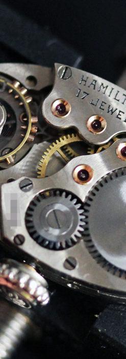 上品さが光る美しいハミルトンの金無垢アンティーク腕時計【1930年頃】箱付き-W1470-19