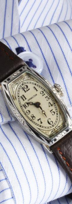 上品さが光る美しいハミルトンの金無垢アンティーク腕時計【1930年頃】箱付き-W1470-4