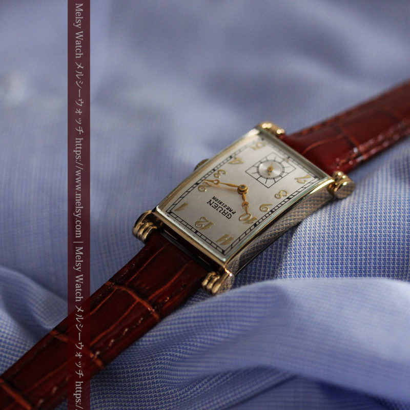 グリュエンの上品さと風格を備えるアンティーク腕時計【1940年頃】-W1471-1
