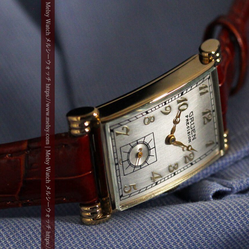 グリュエンの上品さと風格を備えるアンティーク腕時計【1940年頃】-W1471-11