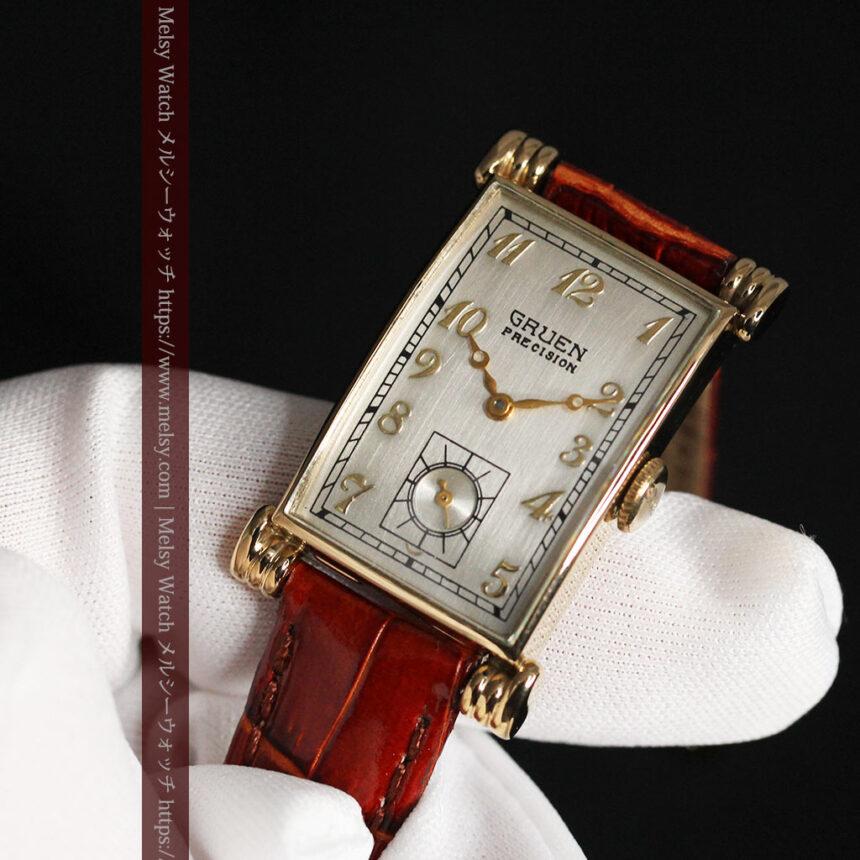 グリュエンの上品さと風格を備えるアンティーク腕時計【1940年頃】-W1471-13