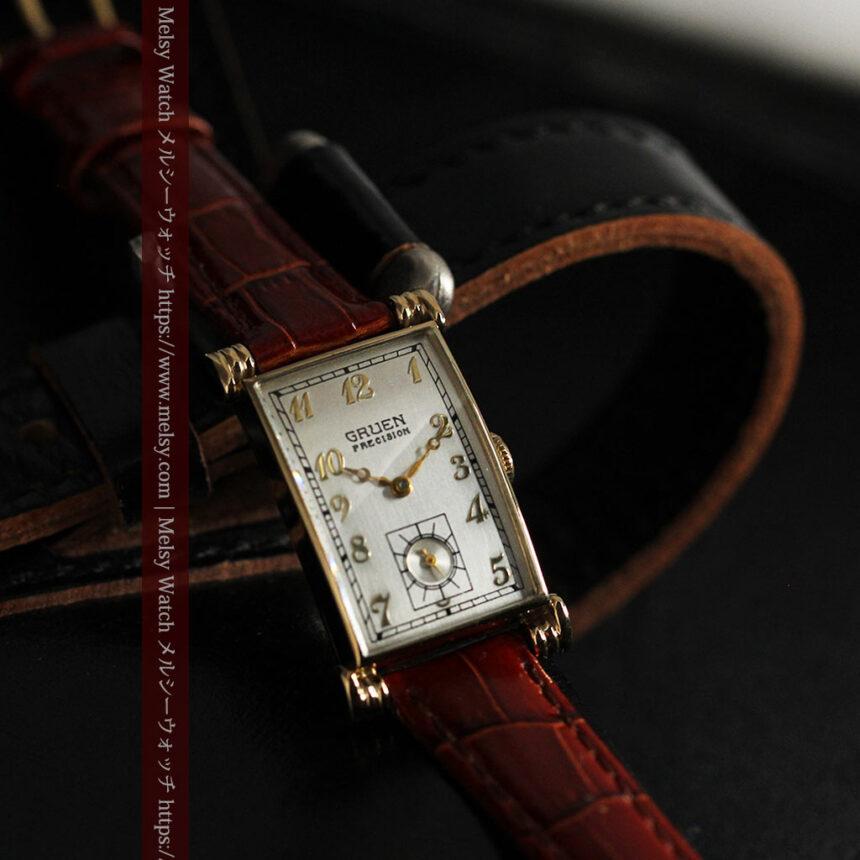 グリュエンの上品さと風格を備えるアンティーク腕時計【1940年頃】-W1471-2
