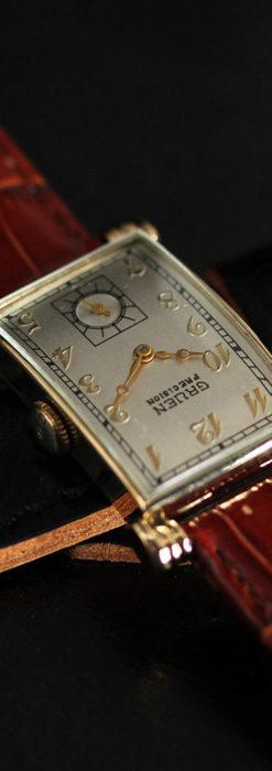 グリュエンの上品さと風格を備えるアンティーク腕時計【1940年頃】-W1471-3