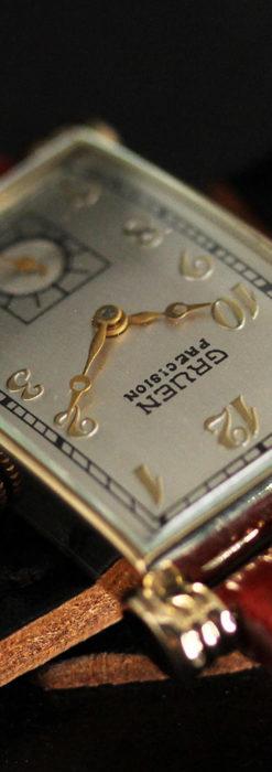 グリュエンの上品さと風格を備えるアンティーク腕時計【1940年頃】-W1471-4