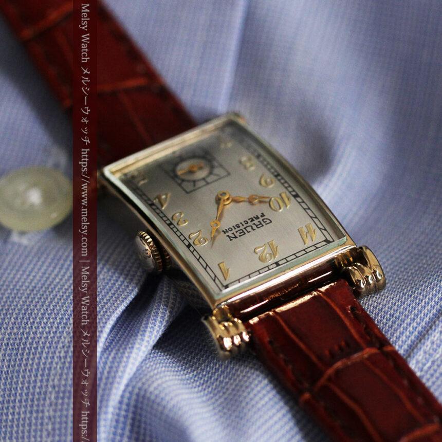 グリュエンの上品さと風格を備えるアンティーク腕時計【1940年頃】-W1471-6