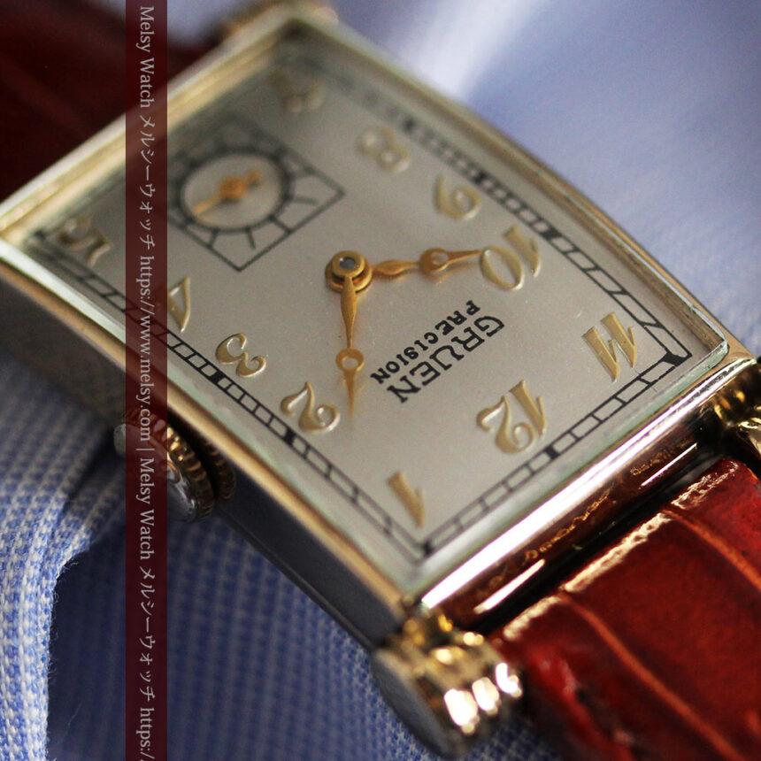 グリュエンの上品さと風格を備えるアンティーク腕時計【1940年頃】-W1471-8