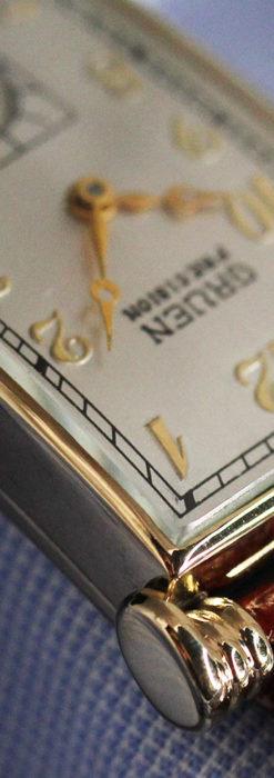 グリュエンの上品さと風格を備えるアンティーク腕時計【1940年頃】-W1471-9