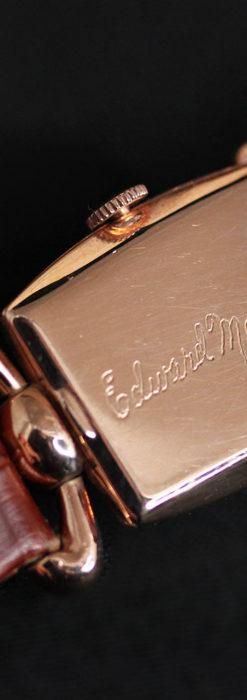 こだわりを重ねたグリュエンのローズ色のアンティーク腕時計【1940年頃】-W1472-12