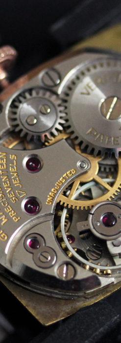 こだわりを重ねたグリュエンのローズ色のアンティーク腕時計【1940年頃】-W1472-14