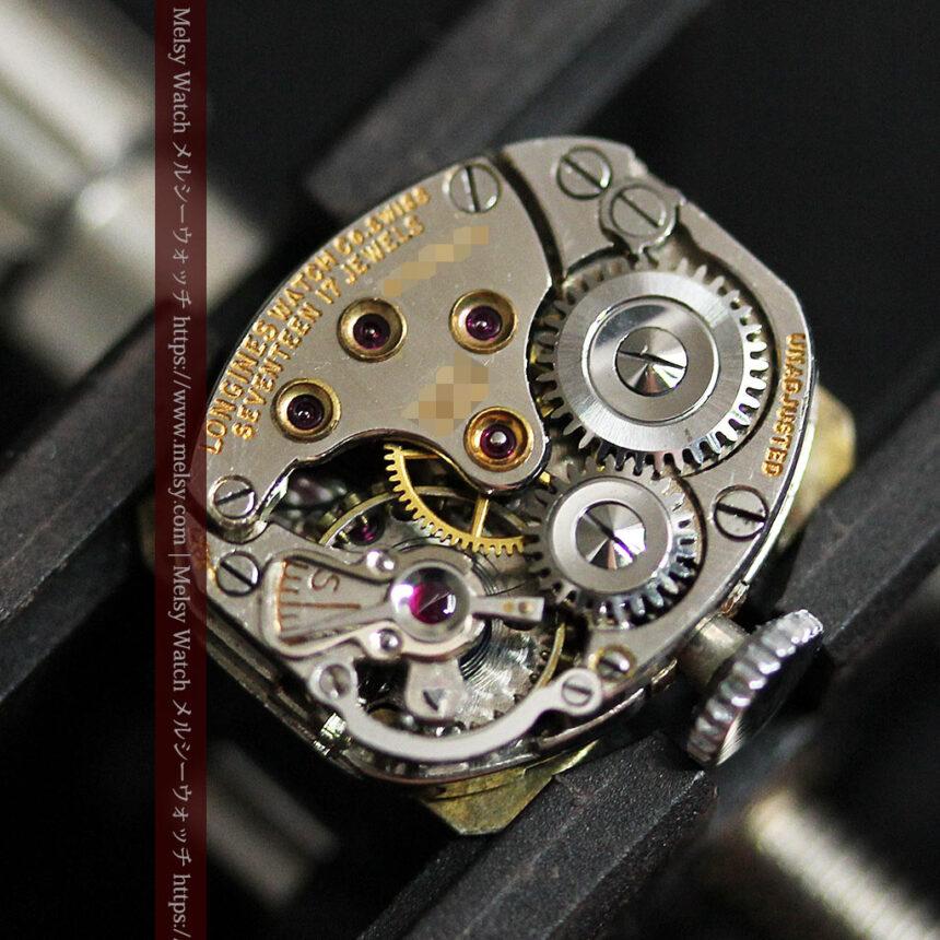 ロンジン 金無垢女性用アンティーク腕時計 ルビーとダイヤ装飾 【1943年製】-W1474-17