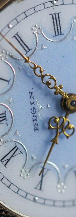 エルジン アンティーク腕時計 趣き深い青と銀の文字盤 【1904年製】-W1475-10
