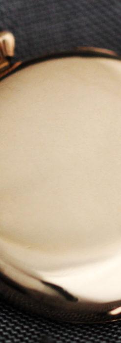 エルジン アンティーク腕時計 趣き深い青と銀の文字盤 【1904年製】-W1475-15
