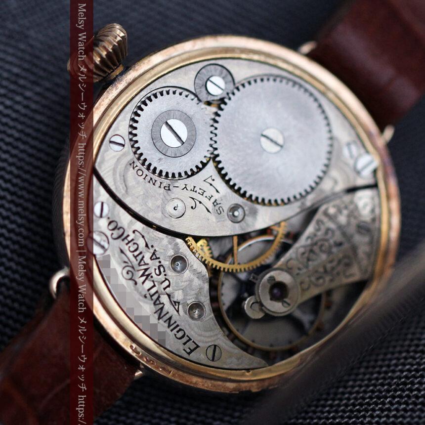 エルジン アンティーク腕時計 趣き深い青と銀の文字盤 【1904年製】-W1475-16