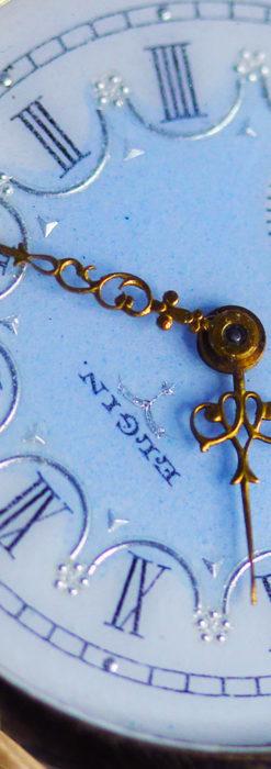 エルジン アンティーク腕時計 趣き深い青と銀の文字盤 【1904年製】-W1475-9