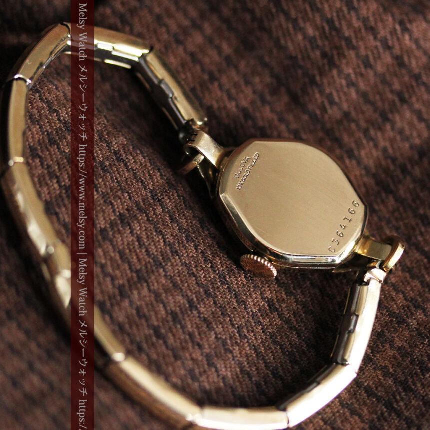 ブローバの金銀2色の装飾際立つ女性用アンティーク腕時計 【1942年製】-W1477-12