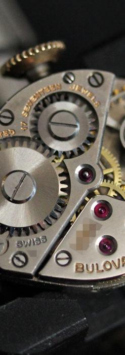 ブローバの金銀2色の装飾際立つ女性用アンティーク腕時計 【1942年製】-W1477-14