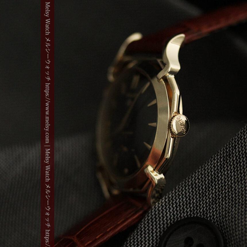 グリュエン アンティーク腕時計 蜘蛛・黒文字盤 【1950年頃】-W1478-14