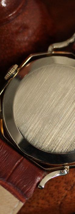 グリュエン アンティーク腕時計 蜘蛛・黒文字盤 【1950年頃】-W1478-15