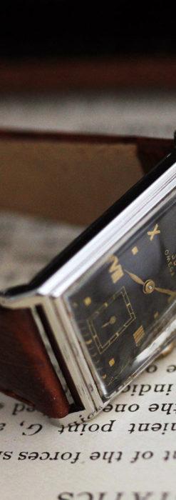 オメガ アンティーク腕時計 上品な黒と金のコントラスト 【1943年製】-W1481-15
