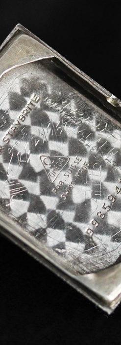 オメガ アンティーク腕時計 上品な黒と金のコントラスト 【1943年製】-W1481-17