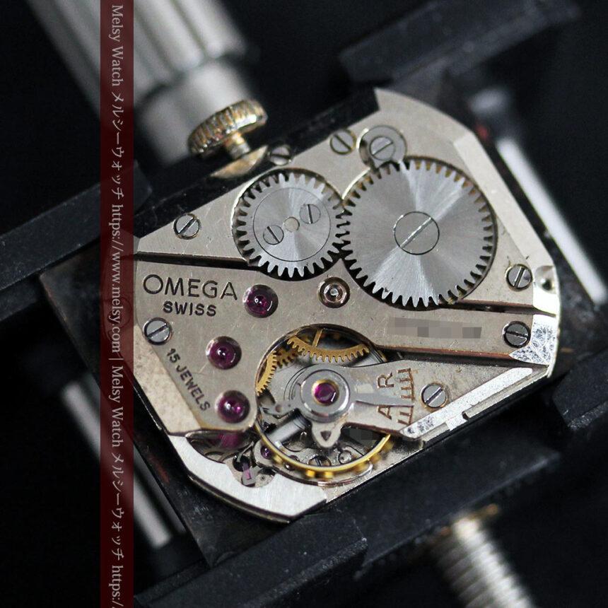 オメガ アンティーク腕時計 上品な黒と金のコントラスト 【1943年製】-W1481-18