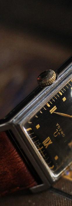 オメガ アンティーク腕時計 上品な黒と金のコントラスト 【1943年製】-W1481-9