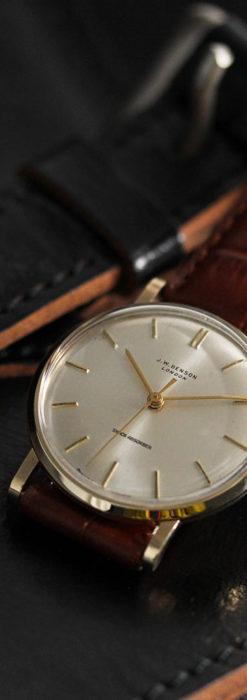 ベンソンの昭和レトロな金無垢アンティーク腕時計 【1967年頃】-W1483-1