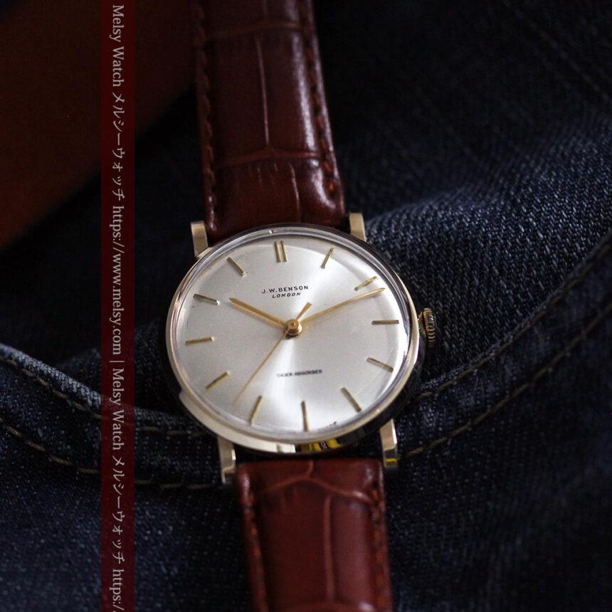ベンソンの昭和レトロな金無垢アンティーク腕時計 【1967年頃】-W1483-10