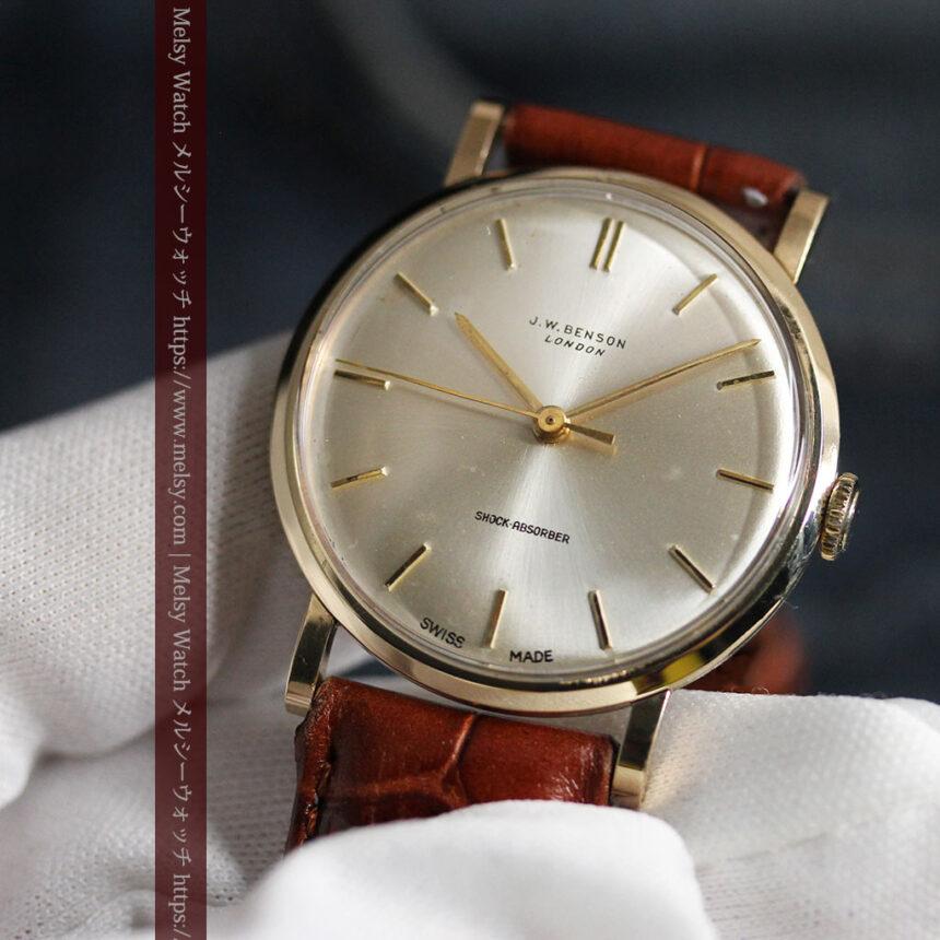 ベンソンの昭和レトロな金無垢アンティーク腕時計 【1967年頃】-W1483-11