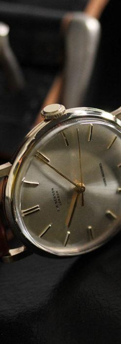 ベンソンの昭和レトロな金無垢アンティーク腕時計 【1967年頃】-W1483-12